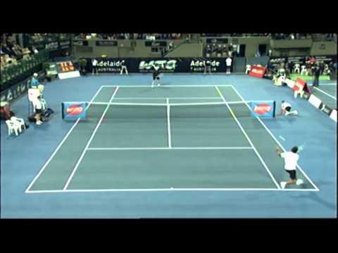 Pat Rafter V Brad Gilbert   World Tennis Challenge Adelaide 2012