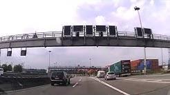 Fahrt durch Hamburg auf A7 durch Elbtunnel - New video - Dash Cam Video - Autobahn  Germany