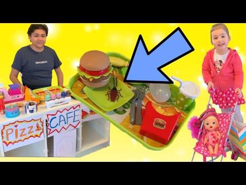 Şakacı Hamburgerci Bize ŞAKA YAPTI Çilek Kız Elif Funny prank fun kid video