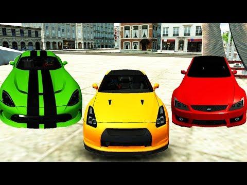 Цветные Машинки! Какой Прыгает Выше?