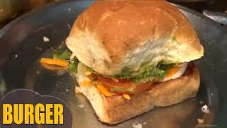 burger recipe - how to make simple & fast vegetable burger at home by www.lathachannel.com