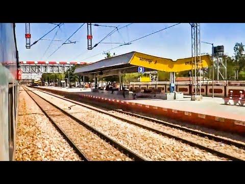 110 KM/HR FLAT SKIP Thru BHARATPUR Jn. | Goa SK | Indian Railways