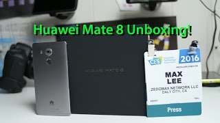 Huawei Mate 8 Unboxing & First Impressions!
