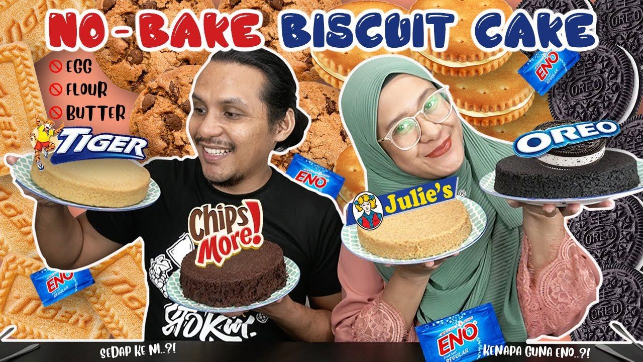 NO-BAKE BISCUIT CAKE | Masak kek guna serbuk Eno?? (Mukbang with ISAAC OSMAN)