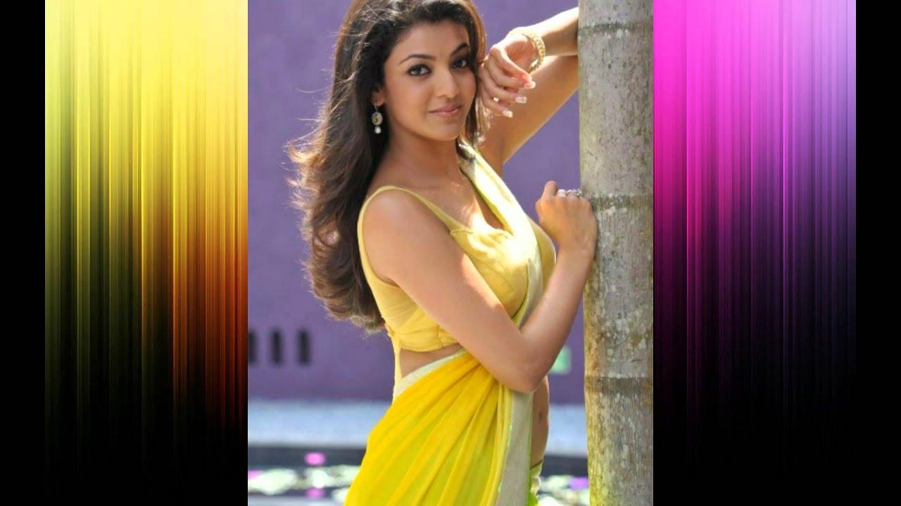 kajal agarwal spicy saree stills - youtube