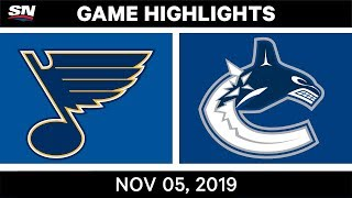 NHL Highlights   Blues vs. Canucks – Nov. 5, 2019