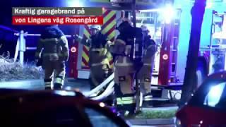 Kraftig garagebrand på von Lingens väg