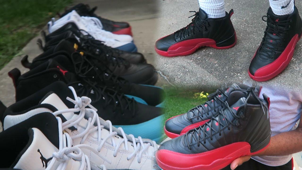 Updated Jordan 12s Sneaker Collection Custom Socks