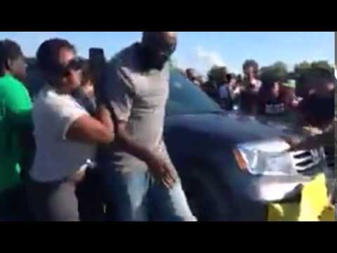 Pictures Of Protestors Getting Hit By Car