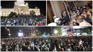 Uživo : Narod u Skupstini, ustao protiv Vučića - 4 sata događanja!