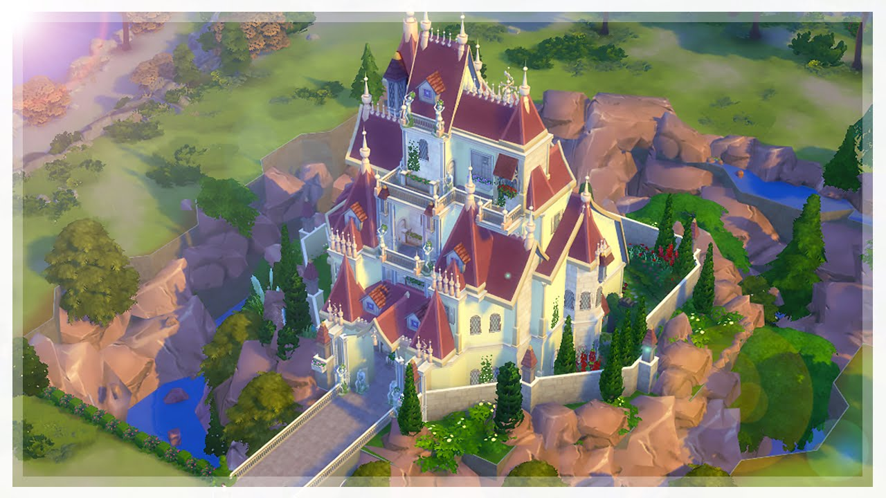 The Sims 4 Beauty Amp The Beast Castle Speed Build Collab