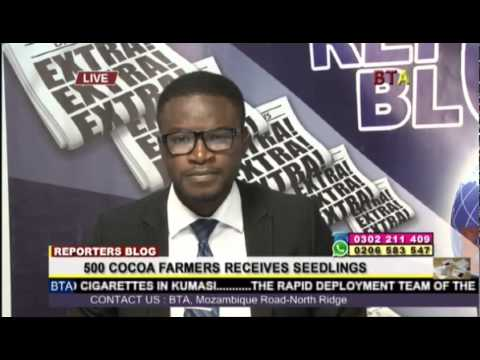 500 Cocoa Farmers Receives Seedlings