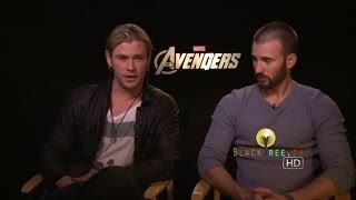 THE AVENGERS interview w/ Chris Evans and Chris Hemsworth