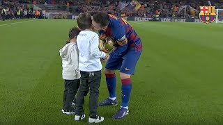 Leo Messi Shares His Sixth Ballon D'or With The Camp Nou