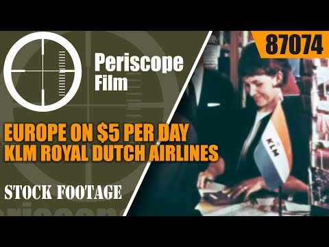 EUROPE ON $5 PER DAY  KLM ROYAL DUTCH AIRLINES 1960s TRAVELOGUE 87074