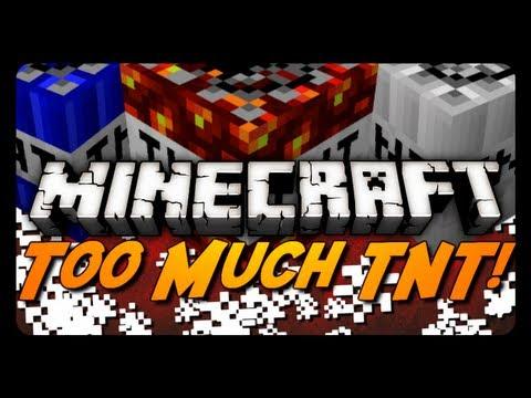 Minecraft Mod Review: TOO MUCH TNT! (10 New TNT Types + Gunpowder Block!)
