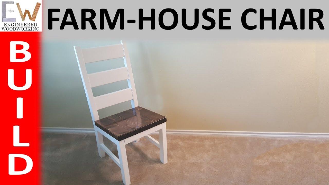 Farm House Dining Chair   Design 1   YouTube
