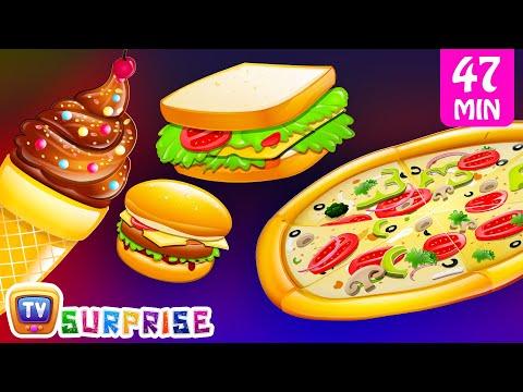Surprise Eggs Nursery Rhymes Toys   Three Little Kittens - Food   Learn Colours   ChuChu TV Cutians