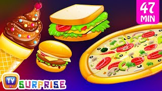 Surprise Eggs Nursery Rhymes Toys | Three Little Kittens - Food | Learn Colours | ChuChu TV Cutians