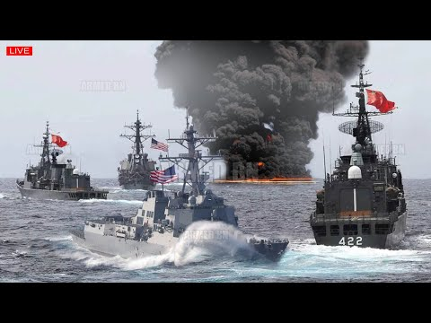 War clash (Feb 23) US Army fire of hypersonic missile to attack China ships that sank US ship in SCS