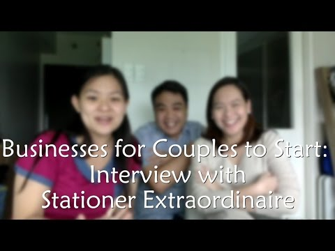 Businesses for Couples to Start - Interview with Stationer Extraordinaire