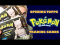 "Opening 3 Packs of Topps ""Pokémon: The First Movie"" Trading Cards"