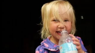 Cutest laughing Toddler gets the Hiccups!