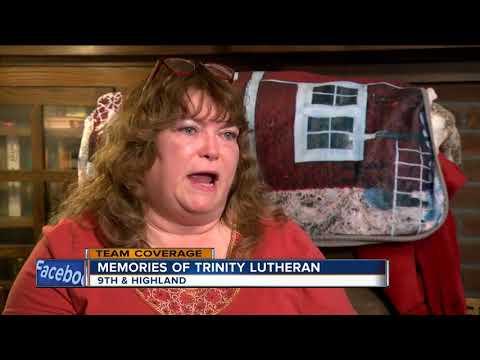Parishioners fight back tears after historic Trinity Lutheran church burns