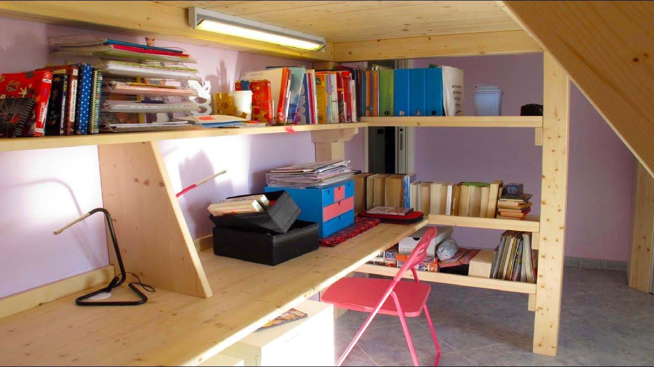 Letto soppalco in legno fai da te: spazio soppalco letto ...