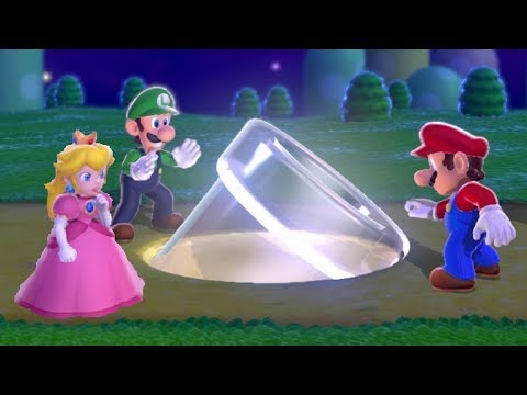 Super Mario 3D World 100% Walkthrough World 1 - All Green Stars & Stamps