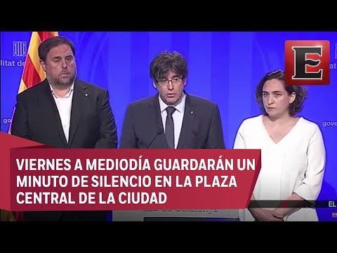 Puigdemont confirmó la muerte de 12 personas y 80 heridos