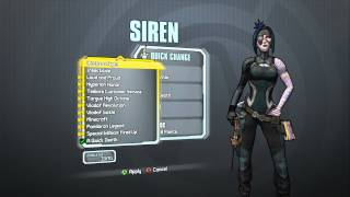 Borderlands 2 -  Siren Madness Pack (Throatcutter head and A Quick Death skin)