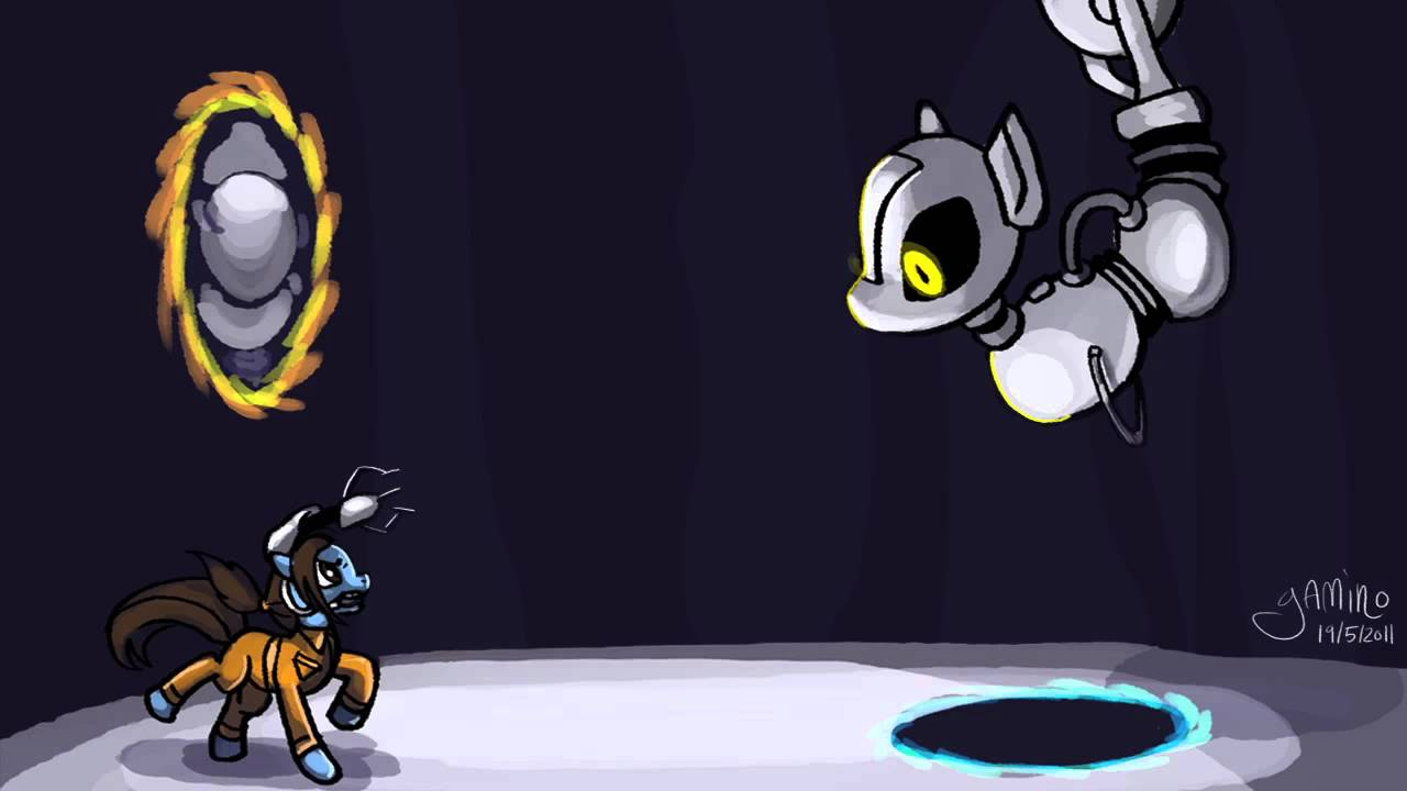 Animated Moon Wallpaper My Little Portal Glados Theme Song Mlp Music Youtube