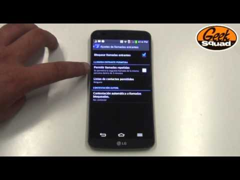 TIP: Cómo configurar los ajustes de llamadas entrantes en LG G Flex