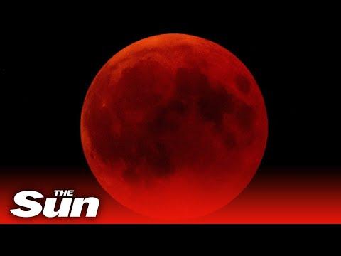 Super Blood Moon lunar eclipse around the world
