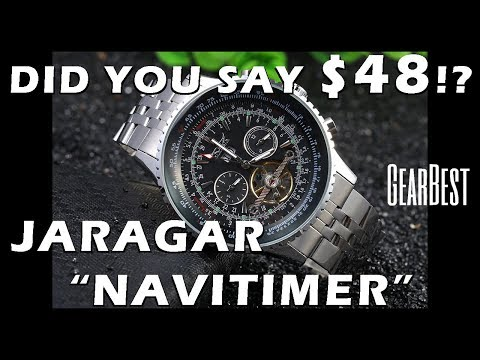 "Homage Alert! Jaragar ""Navitimer"" Automatic Watch F120506 Review c/o GearBest - Perth WAtch #99"