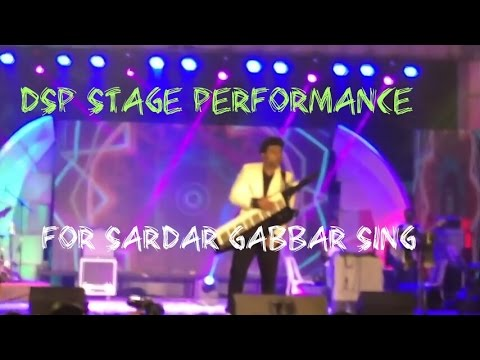 DSP Rocking Performance On Stage Sardar Gabbar Singh Title Song With Fans