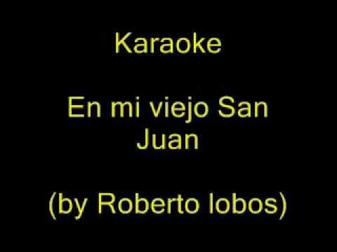 Karaoke Javier solis En mi viejo San Juan