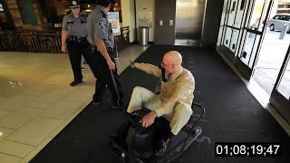 Video *OLD MAN SECURITY ESCAPE* CRAZY CART IN A MALL! download MP3, 3GP, MP4, WEBM, AVI, FLV Oktober 2018