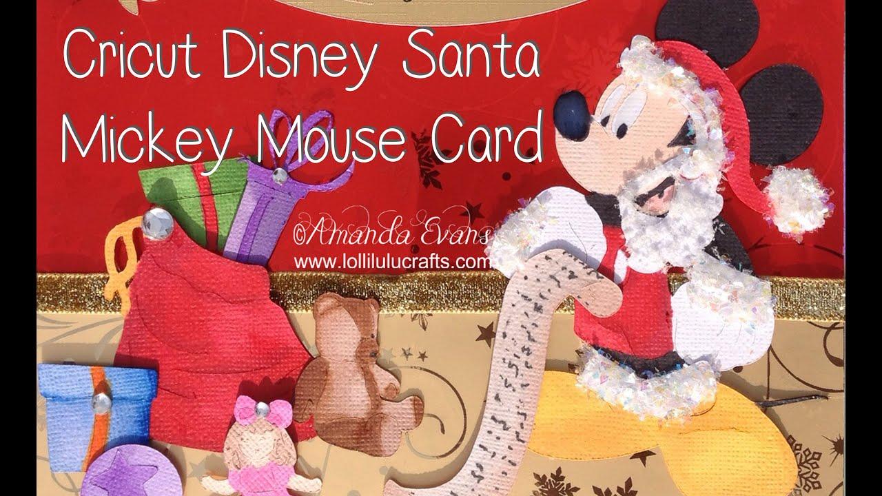 Cricut disney mickey mouse santa card youtube cricut disney mickey mouse santa card m4hsunfo
