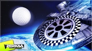 GOLF RACE IN SPACE! (Tower Unite Minigolf)