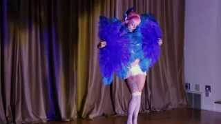 "Shirley Sweet - burlesque fan dance to ""Lament"" by Sonny Lester and his Orchestra"