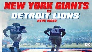 New York Giants vs Detroit Lions | Week 15 Hype Video PG