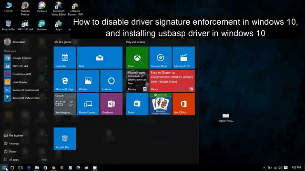 How To Disable Driver Signature Enforcement Install Usbasp Avr Programmer Flickr Photo Sharing In Windows 10