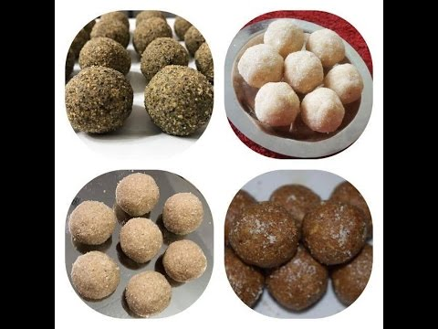 4 Protein Rich Laddu Recipes | Healthy Multi Grain Laddu | Multi Dal laddu By Sritha's Kitchen