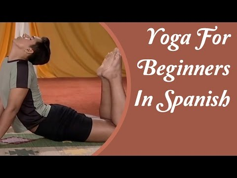 Yoga for Complete Beginners - 50 Minutes Home Yoga Workout | Yoga Tutorial In Spanish