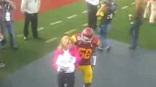 Rey Maualuga Dances With Erin Andrews