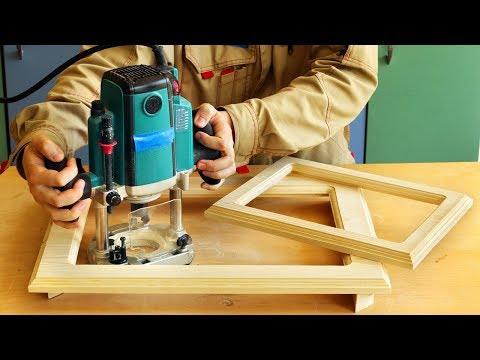 Фрезерование и изготовление рамок для А4 и А3, Milling Wooden Frames For A3 And A4