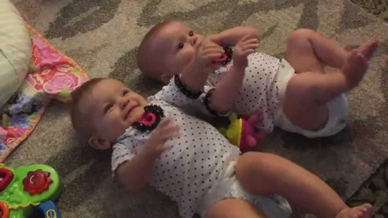 9 month update   twin baby girls - youtube