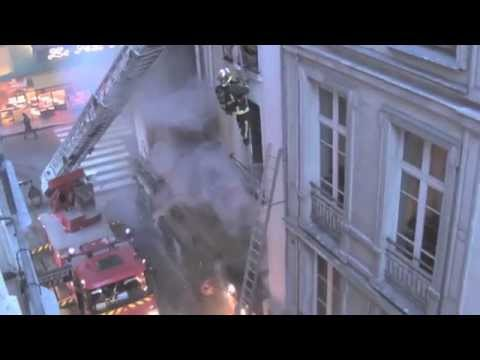 Paris Firemen Rescue Eight Parisians from Fiery Inferno on R